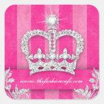 Fashion Stripes Sticker Jewellery Pink Crown