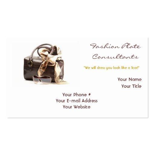 Fashion Stylist 1 Business Card Horizontal Zazzle