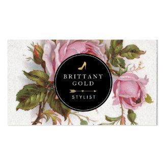 Fashion Stylist Blog Business Card - Rose Feminine