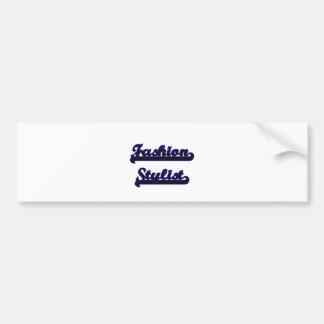 Fashion Stylist Classic Job Design Bumper Sticker