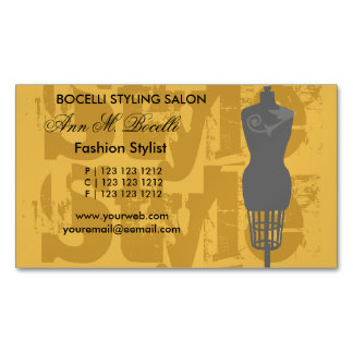 Fashion Stylist Style Fashion Artist Mannequin Magnetic Business Cards