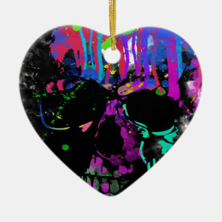 Fashion Summer Skull Skeleton Dead Man Reborn Ceramic Heart Decoration