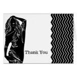 Fashion thank you card
