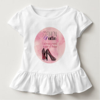 Fashion Victim with shoes and lipstick Toddler T-Shirt