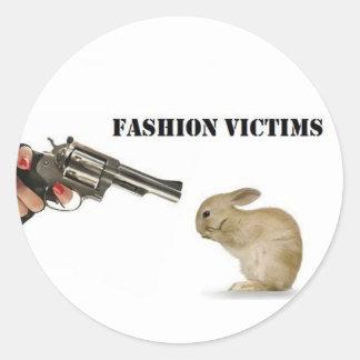 Fashion Victims Classic Round Sticker