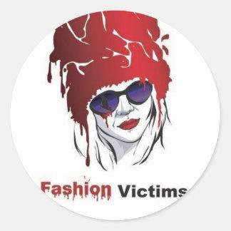 Fashion Victims: Help the Seals! Round Sticker