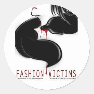 Fashion Victims Round Sticker