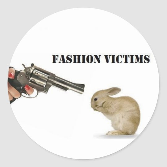 Fashion Victims Round Sticker
