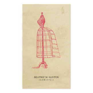 Fashion Vintage Dress Form Cool Pink Plain Simple Pack Of Standard Business Cards