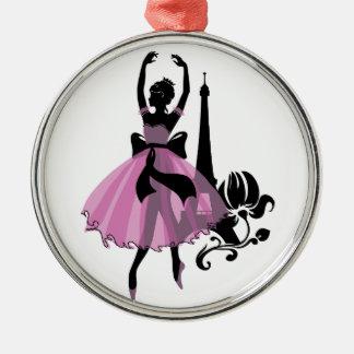 Fashion vintage stylish illustration. Ballerina Christmas Ornament