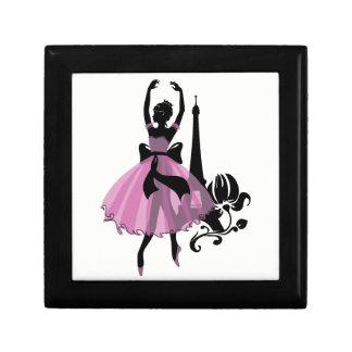 Fashion vintage stylish illustration. Ballerina Gift Box