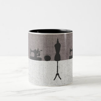 Fashion Women's Clothing Designer Mannequin Two-Tone Mug