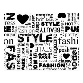 Fashion Word Collage Vector Illustration - alt Postcard
