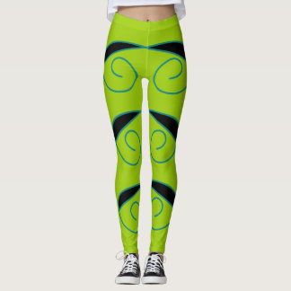 Fashionable and Trendy green and black leggings