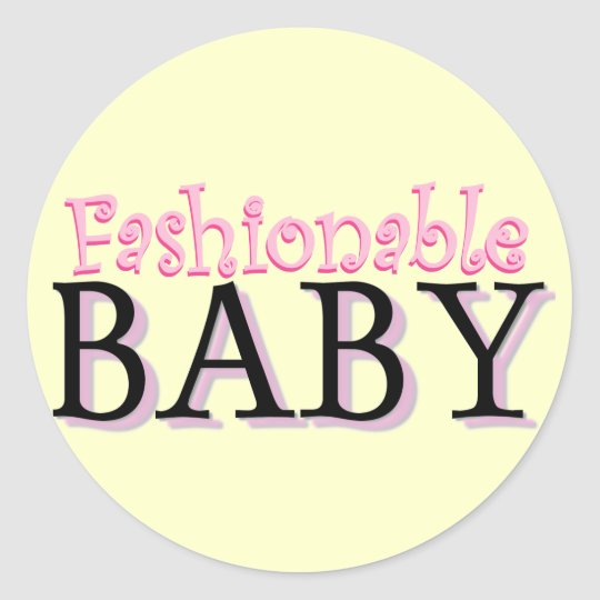 Fashionable Baby Tshirts and Gifts Classic Round Sticker
