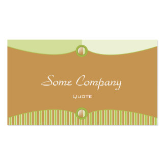 Fashionable Buttons (Celery) Business Card Templates
