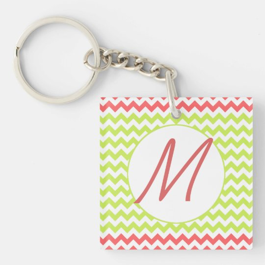 Fashionable Chevron Monogram Key Chain