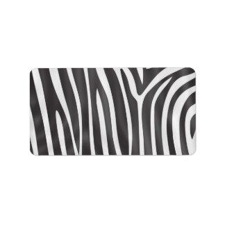 Fashionable elegant girly zebra pattern label