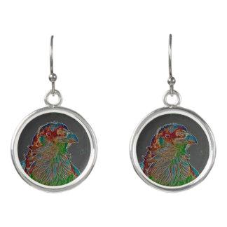 Fashionable fantasy bird earrings