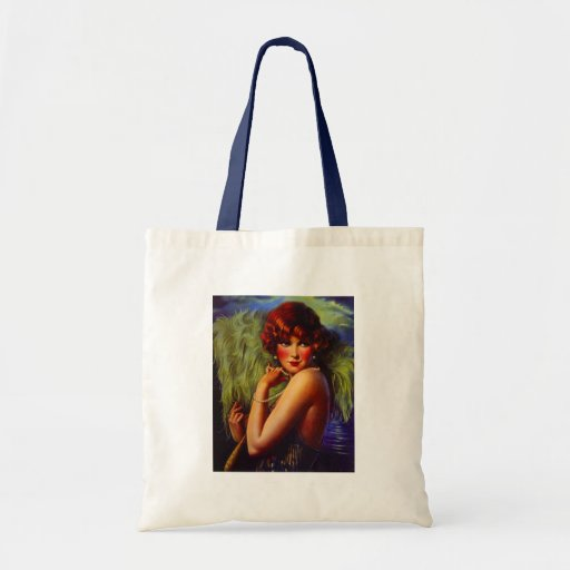 Fashionable Flapper Girl ~ Evening At the Beach Tote Bags