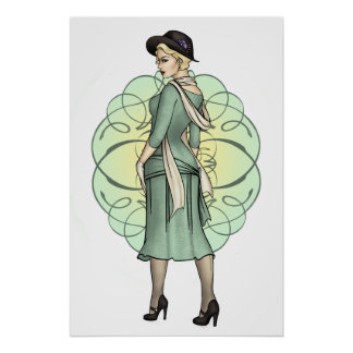 Fashionable Gangster - 1920s Pinup Poster