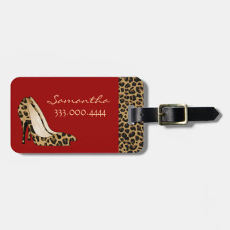 Fashionable Jaguar Silettos Custom Luggage Tag