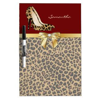 Fashionable Jaguar Stiletto Heels Dry Erase Board