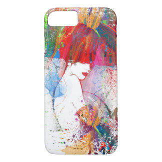 Fashionable lady warecolor Phone Case