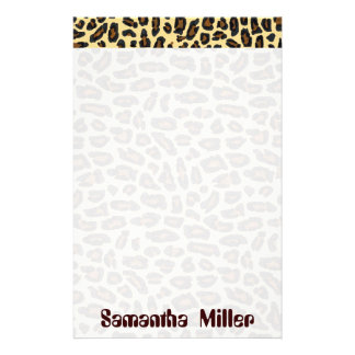 Fashionable Leopard Print personalized stationery