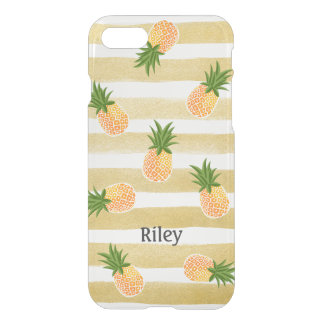 Fashionable Pineapple Pattern with Gold Stripes iPhone 8/7 Case