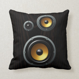 Fashionable Retro Wood Grain Speaker Trio Cushion