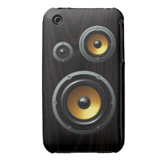 Fashionable Retro Wood Grain Speaker Trio iPhone 3 Cases