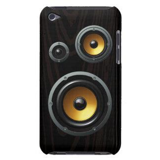 Fashionable Retro Wood Grain Speaker Trio iPod Touch Cases
