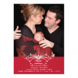 Fashionable Scroll - Photo Holiday Card Personalised Announcements