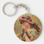 Fashionable Style Vintage Rose Victorian KEY CHAIN