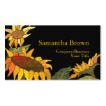 Fashionable Sunflowers Business Cards