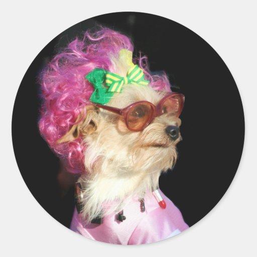 Fashionable Toy Mix Dog stickers