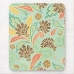Fashionable trendy girly vintage floral Paisleys Mouse Pads