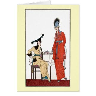 Fashionable Vintage Afternoon Tea Card