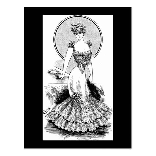 Fashionable Waistline 1906 Postcard