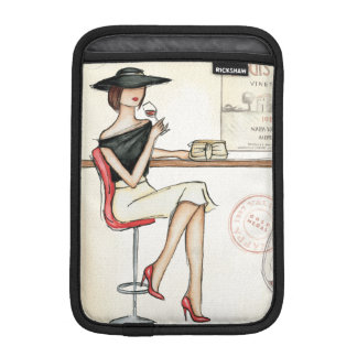 Fashionable Woman Drinking Wine iPad Mini Sleeve