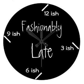 Fashionably late large clock