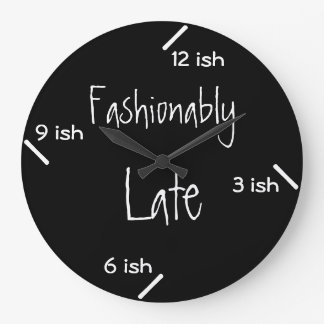 Fashionably late wallclocks