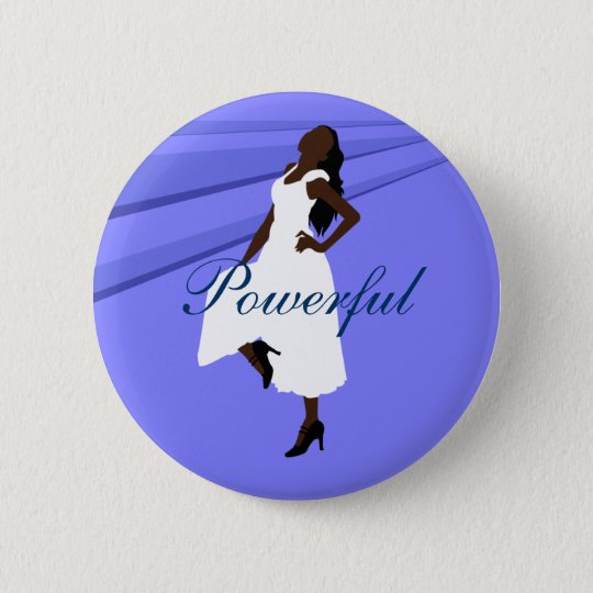 Fashiongirl in White 6 Cm Round Badge