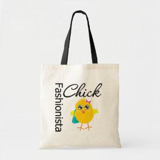 Fashionista Chick Tote Bags