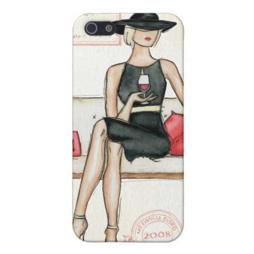 Fashionista Drinking Wine iPhone 5 Cover