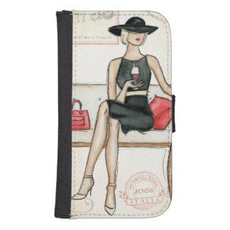 Fashionista Drinking Wine Phone Wallet Case