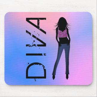 Fashionista Fashion Diva in Blue Jeans Mousepad