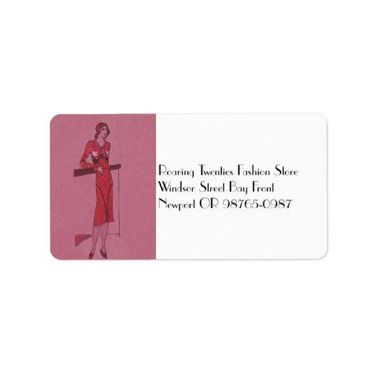 Fashionista Flapper  Illustration c1925 Label