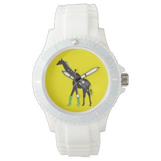 Fashionista Giraffe White Sporty Watch